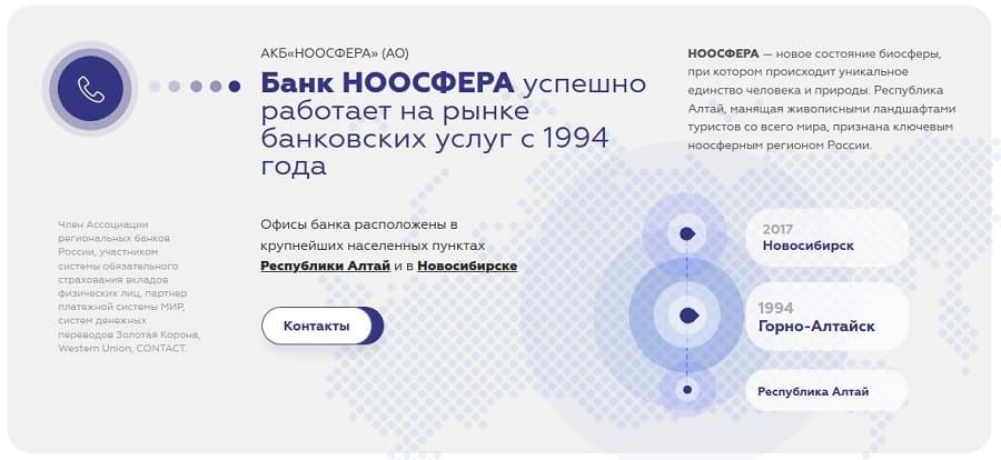Личный кабинет Банк Ноосфера: вход в интернет-банк
